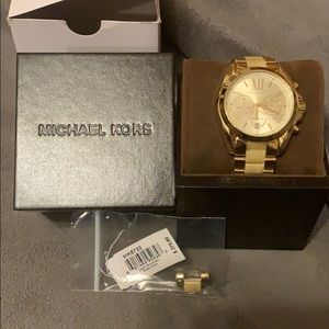 Michael Kors Women Gold and Ivory Watch